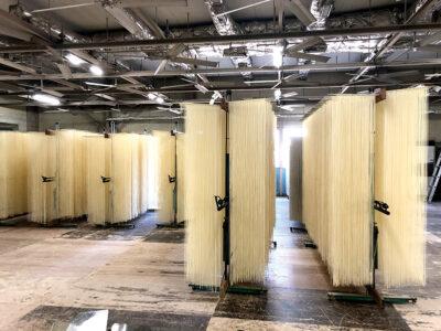 麺の乾燥工程がもっとも電気を使う